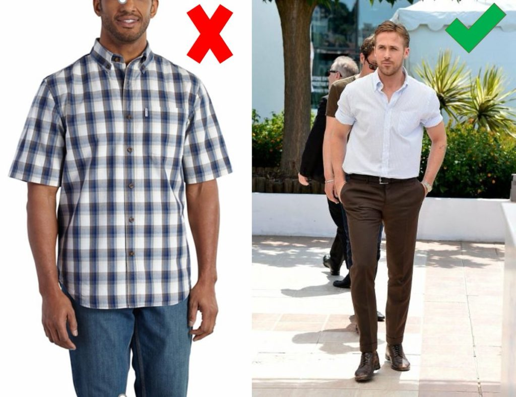 matching in colour exclusive range unique design How To Wear A Short Sleeve Button Up Shirt With Style | Well ...