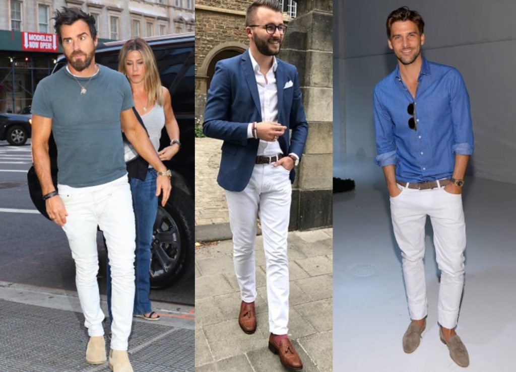 How To Wear White Chinos Or Denim Jeans