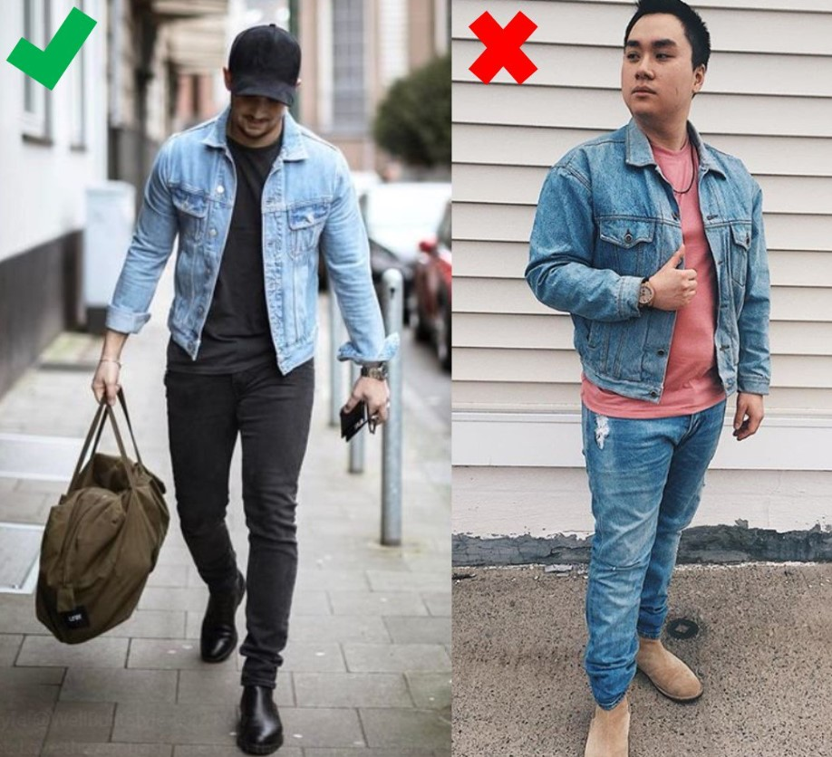 051620340d The second principle of wearing a denim jacket well is making sure you mix  up the washes if you decide to go with a denim on denim look (denim jacket  + ...