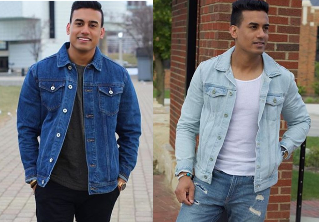 88158ec6a3a It s a more flattering look  The second principle of wearing a denim jacket  well is making sure you mix up the washes if you decide ...